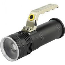 Фонарь аккумуляторный 10W CREE T6, фокусировка луча, аккум. 18650, чёрный, Smartbuy [SBF-32-H]