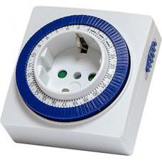 Розетка с механическим таймером, 3600Вт, 96 вкл/сутки, SmartBuy [SBE-STM1]