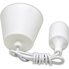 Патрон подвесной E27 силиконовый со шнуром 1м белый SmartBuy [SBE-CLHE27s-w]