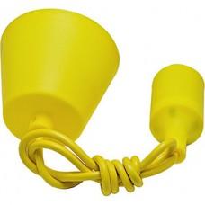 Патрон подвесной E27 силиконовый со шнуром 1м желтый SmartBuy [SBE-CLHE27s-y]