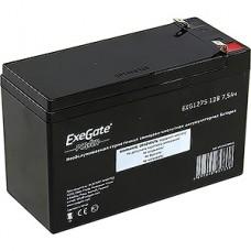 Батарея для UPS 12B/7.5Aч, Exegate [EXG1275] (клеммы F2)