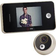 Видеозвонок ЭРА ПРИВЕТ, шампань, 0.3MP CMOS, экран 2.8