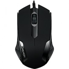 Мышь CANYON CNE-CMS02B, 3кн, 1000dpi, черная, USB