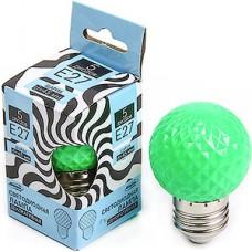 Лампа LED декоративная Luazon, Шарик d=45 мм, 5xSMD2835, ЗЕЛЕНЫЙ [2580337]