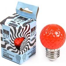 Лампа LED декоративная Luazon, Шарик d=45 мм, 5xSMD2835, КРАСНЫЙ [2580338]