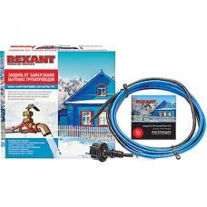 Греющий саморегулирующийся кабель (комплект на трубу) 15MSR-PB, 8м/120Вт, REXANT [51-0619]