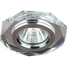 Светильник встраиваемый для ламп GU5.3/MR16, d100/65, ЭРА [DK5 СH/SL] зеркальный/хром