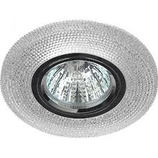 Светильник встраиваемый для ламп GU5.3/MR16, d100/65, с LED подсв., ЭРА [DK LD1 WH] прозрачный