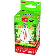Лампа LED ФИТО REV E27/A60 груша,  7W, FILAMENT, 4000K, 760Лм, 575-650Нм, PPF>10 [32416 4]
