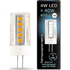 Лампа LED Gauss G4/12В, 4W, 4100K, 410Лм, керамика [207307204]