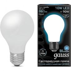 Лампа LED Gauss E27/A60 груша, 10W, FILAMENT матовая, 4100K, 860Лм [102202210]