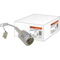 Патрон E27 пластиковый подвесной с клеммой для подключения, белый, TDM [SQ0335-0023]