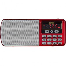 Радиоприемник Perfeo  ЕГЕРЬ 3-in-1, FM, MP3, USB, microSD, Line In, красный [i120-RED]
