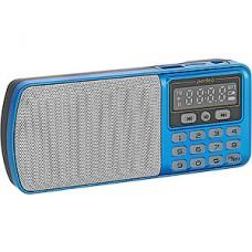 Радиоприемник Perfeo  ЕГЕРЬ 3-in-1, FM, MP3, USB, microSD, Line In, синий [i120-BL]