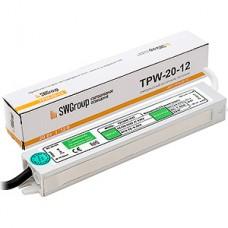 Блок питания  20W, 12V, IP67, металл, влагозащищенный [TPW-20-12]
