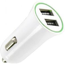 Зарядное устройство 2хUSB 2.1А от авто 12В, тип4 [05261] белое