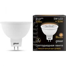 Лампа LED Gauss GU5.3/MR16 софит, 5W, 3000K, 500Лм [101505105]