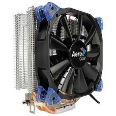 Кулер Aerocool Verkho 4 Dark, Socket-ALL, 4-pin 15-27dB Al+Cu 140W 678gr Ret
