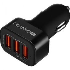 Зарядное устройство CANYON CNE-CCA06B, 3хUSB до 3100мА от авто 12/24В, черное