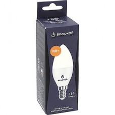 Лампа LED Включай E14/C37 свеча, 10W, 3000K, 720Лм [LED OPTI C37-10W-E14-N]