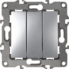 Выключатель с/у 3-кл 10А, ЭРА12 [12-1107-03][10] алюминий