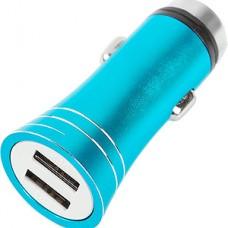 Зарядное устройство Luazon, 2xUSB 2.1A от авто 12В, C004, синий [2364670]