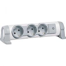 Удлинитель без кабеля 3 розетки, 16А, с зазем., с индикат., поворотный, Legrand [694624]