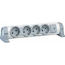 Удлинитель без кабеля 4 розетки, 16А, с зазем., с индикат., поворотный, Legrand [694629]