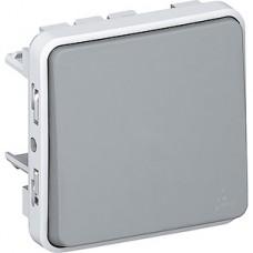 Переключатель с/у 1-кл 10А, IP55, Legrand PLEXO [069511] серый