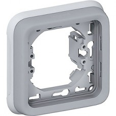 Рамка на 1 пост, IP55, Legrand PLEXO [069681] серый