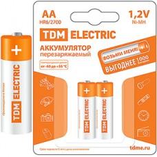 Аккумулятор TDM AA 2700mAh Ni-MH [BL2] [SQ1702-0072]