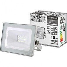 Прожектор LED  10W, 6500K, IP65, SMD, 800Лм, Народный СДО-04-010Н [SQ0336-0270] белый