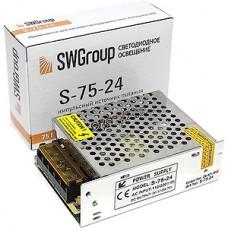 Блок питания  75W, 24V, IP20, металлическая сетка [S-75-24]