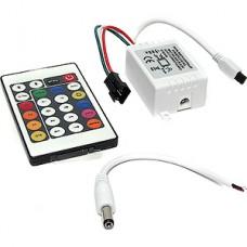 Контроллер ленты LED RGB, 12/24В, 3*2А, ИК пульт 24 кнопки [IR6A Magic]