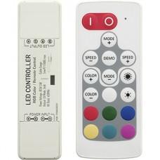 Контроллер ленты LED RGB, 12/24В, 3*6А, радио пульт [LP-N30-S-18A]