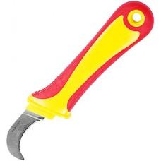 Нож монтажника 50мм, нерж.сталь, изогнутое лезвие REXANT [12-4937]