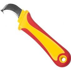 Нож монтажника 45мм, нерж.сталь, изогнутое лезвие REXANT [12-4935]