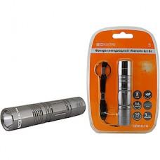 Фонарь LED 0.5W, металл, 30лм/Вт, 1*AA не в комплекте, TDM [SQ0350-0012]