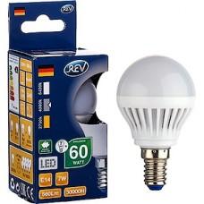 Лампа LED REV E14/G45 шар, 7W, 4000K, 600Лм [32341 9]