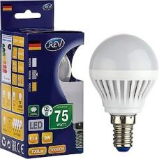Лампа LED REV E14/G45 шар, 9W, 4000K, 720Лм [32407 2]
