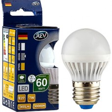 Лампа LED REV E27/G45 шар,  7W, 4000K, 600Лм [32343 3]