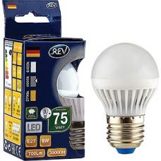 Лампа LED REV E27/G45 шар,  9W, 4000K, 720Лм [32409 6]
