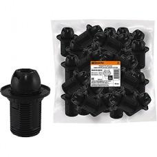 Патрон E14 пластиковый с кольцом, TDM [SQ0335-0058] черный