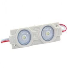 Модуль LED 2xSMD2835 с линзой 160°, 12В, 0.96W, 90Лм, 9000K, 47*14*4, провод 105мм
