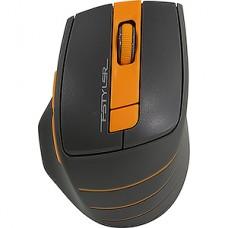 Мышь беспроводная A4Tech Fstyler FG30 серый/оранжевый оптическая (2000dpi) USB (5but)