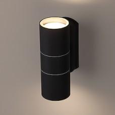 Светильник декоративный 2*GU10 MAX35W, IP54, 160*60*92, ЭРА [WL28 BK] черный