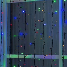 Гирлянда уличная Занавес Ш:2*В:6м, темная, LED-1440-220V УМС 2W, БЕЗ контр., МУЛЬТИ[1080288]