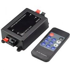 Диммер LED, 12/24В MAX 8А, радио пульт 11кн, GL [GDD-96-R-IP20-12] черный