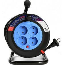 Удлинитель на катушке 20м, 4 розетки, б/з с предохранителем, ПВС 2*1, 10А, Smartbuy[SBE-10-4-20-N]