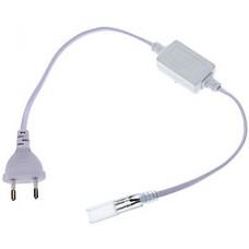 Вилка с проводом для ленты 220В SMD5050, 440Вт, IP20, GL [G-5050-P-IP20]